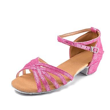 Gyermek tánccipők Nubuk bőr / Lakkbőr Csat Alacsony Személyre szabható Dance Shoes Fukszia