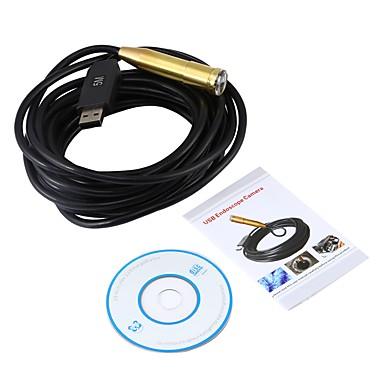 usb endoszkóp 14.5mm objektív mini kamera 5m ellenőrzés cmos vízálló ip67 boreszkó ablak 4 led kígyó video endoskop