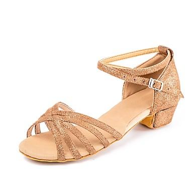 82089333678 Παιδικά Παπούτσια Χορού Δέρμα Nubuck / Λουστρίν Αγκράφα Χαμηλό τακούνι  Εξατομικευμένο Παπούτσια Χορού Καφέ
