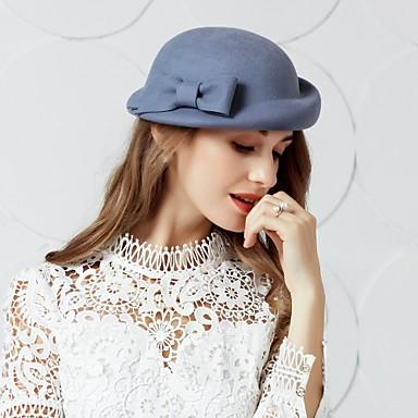 voordelige Hoeden-Wol Kentucky Derby Hat / hatut met 1 Bruiloft / Feest / Uitgaan Helm