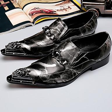 Férfi Formális cipők Nappa Leather Ősz / Tél Félcipők Fekete / Party és Estélyi