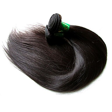 Indian Hair Straight Unprocessed Human Hair Natural Color Hair Weaves / Hair Bulk Human Hair Weaves Human Hair Extensions