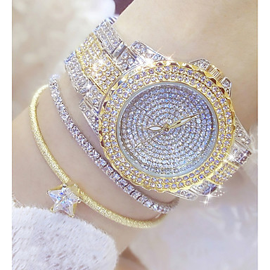 cheap Women's Watches-Women's Ladies Luxury Watches Fashion Watch Unique Creative Watch Japanese Quartz Stainless Steel Silver / Gold 30 m Casual Watch Analog Charm Bling Bling - Gold Silver Gold / Silver