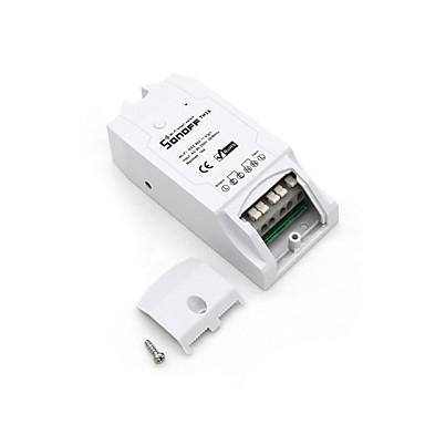 abordables Prise Connectée-sonoff® th16 diy 16a 3500w maison intelligente wifi température sans fil thermostat app télécommande interrupteur prise
