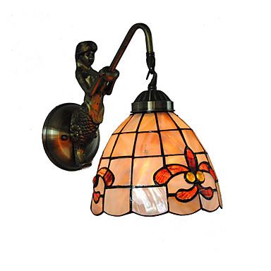 átmérő 18cm retro hableány tiffany fali lámpa burkolat árnyékában nappali hálószoba lámpatest