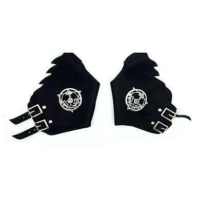 Gloves Inspired by Fullmetal Alchemist Edward Elric Anime Cosplay Accessories PU Leather / Polyurethane Leather / Zinc Alloy Men's / Women's Halloween Costumes