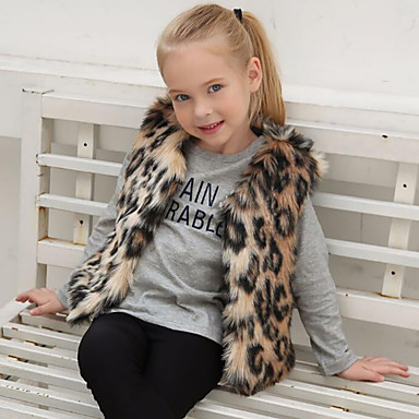 Faux Fur Wedding / Party / Evening Kids' Wraps With Leopard Vests