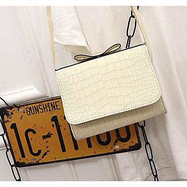 Women's Bags PU(Polyurethane) Crossbody Bag Zipper White / Black / Blushing Pink