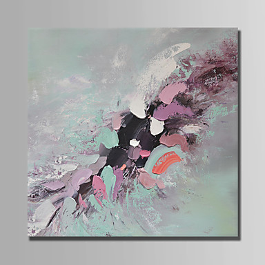 Oil Painting Hand Painted - Abstract Abstract Stretched Canvas