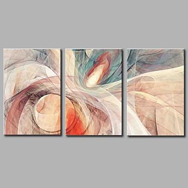 abordables Toiles-Imprimé Impression sur Toile - Abstrait Artistique Abstrait Moderne contemporain Trois Panneaux Art Prints