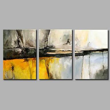 abordables Toiles-Imprimé Impression sur Toile - Abstrait Artistique Abstrait Rustique Trois Panneaux Art Prints