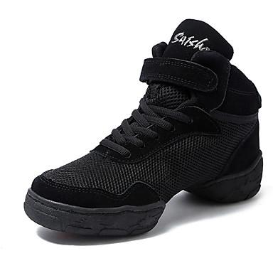 Férfi Tánccipők Tüll Kétrészes talp Személyre szabott sarok Személyre szabható Dance Shoes Fekete