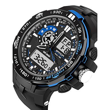 Недорогие Армейские часы-Муж. Жен. Спортивные часы Армейские часы Смарт Часы Цифровой силиконовый Черный 30 m Защита от влаги Будильник Календарь Аналого-цифровые Кулоны Роскошь На каждый день Кольцеобразный Мода -
