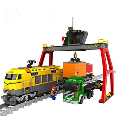 AUSINI Építőkockák 792 pcs Csendélet Járművek Vonat Klasszikus és időtálló Divatos és modern Divat Vonat Fiú Lány Játékok Ajándék