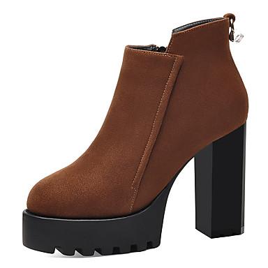 Damen Schuhe Pelz Herbst   Winter Modische Stiefel   Stiefeletten Stiefel  Booties   Stiefeletten Schwarz   Braun   Party   Festivität 6313795 2018 –   59.99 473ae10a2d