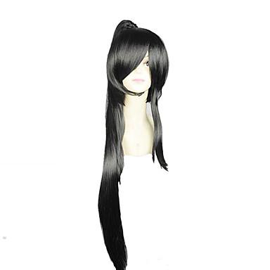 Cosplay Wigs Cosplay Cosplay Black Anime Cosplay Wigs 36 inch Heat Resistant Fiber Men's Women's Halloween Wigs