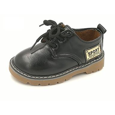 Fiú Cipő Bőrutánzat Ősz Kényelmes Félcipők Fűző mert Fekete / Barna / TPU (Termoplasztik poliuretán