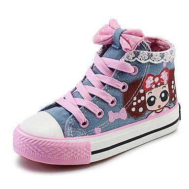 povoljno Dječje cipele & Dječje torbe-Djevojčice Platno Sneakers Mala djeca (4-7s) / Velika djeca (7 godina +) Udobne cipele Dark Blue / Svjetloplav Proljeće / EU37