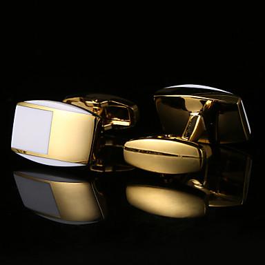 Geometric White Cufflinks Pattern Men's Costume Jewelry