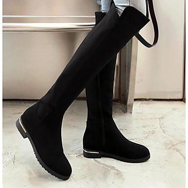 Hiver à Cuissarde Bottes Femme 06287819 Mode Noir Chaussures Flocage la Automne Bottes TTXt7