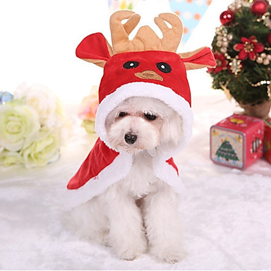 Dog Coat Dog Clothes British Red Cotton Costume For Pets Christmas