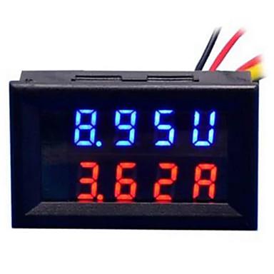 diy praktikus kettős 0,28 hüvelyk 3 jegyű piros kék led kijelző feszültség árammérő (dc 0 - 100v / 50a)