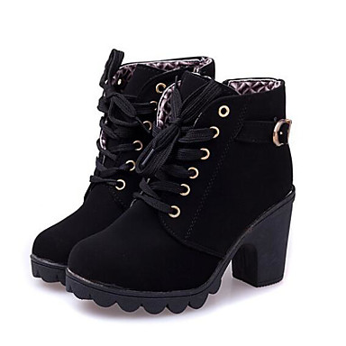 Women s Nubuck leather   PU(Polyurethane) Fall   Winter Basic Pump   Combat Boots  Boots Flat Heel Booties   Ankle Boots Black   Brown   Army Green 544b1066406a