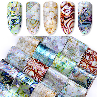16 pcs Artificial Nail Tips Full Nail Stickers nail art Manicure Pedicure Fashionable Design Chic & Modern