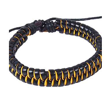 Men's Women's Leather Bracelet - Leather Bracelet Yellow / Red / Blue For Street Going out