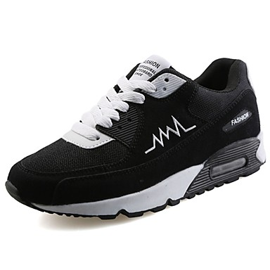 Men's PU(Polyurethane) Spring / Fall Comfort Athletic Shoes Walking Shoes Black / Gray / Black / White