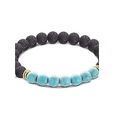 Men's Women's Turquoise Strand Bracelet - Turquoise Ball Bohemian Bracelet Yellow / Light Blue For Gift Casual