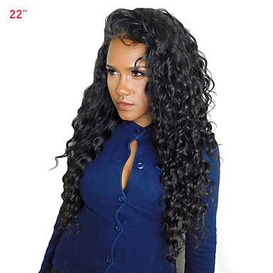 Emberi haj 360 Frontális Paróka Brazil haj Mély hullám Paróka Tincselve 180% Haj denzitás Női Közepes CARA