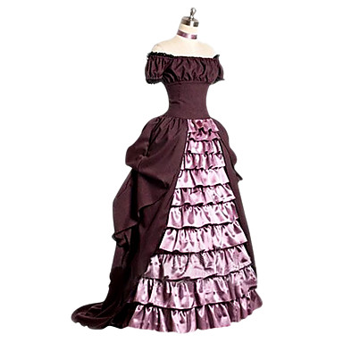 Victorian Rococo Costume Women's Dress Pink Vintage Cosplay Other Short Sleeves Cap Floor Length