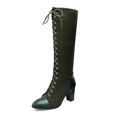 Bottes Hiver Cavalières Bottes à Femme Automne Synthétique de 06277733 Mode  Bottes Cheville Talon Similicuir Chaussures ... a0f866ed41f5