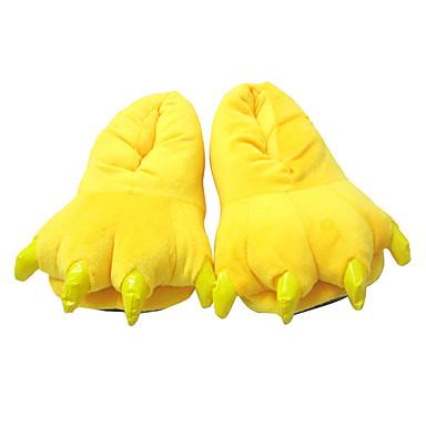 Kigurumi Pajamas Slippers Pika Pika Onesie Pajamas Costume Polyester / Cotton Yellow Cosplay For Adults' Animal Sleepwear Cartoon