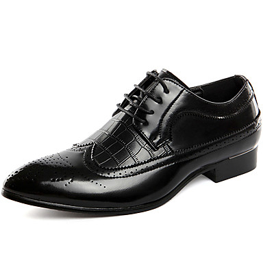 Men's Formal Shoes Patent Leather Fall / Winter Oxfords Black / Red / Blue / Party & Evening