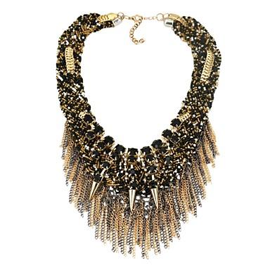 Női Szintetikus gyémánt Nyilatkozat nyakláncok - Klasszikus Fekete Nyakláncok Ékszerek Kompatibilitás Parti, Ajándék
