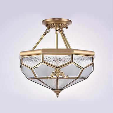 4-Light Mennyezeti lámpa Háttérfény - Mini stílus, 110-120 V / 220-240 V Az izzó nem tartozék / 15-20 ㎡ / E26 / E27