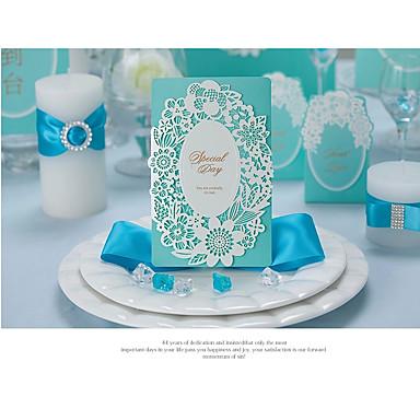 csukott Esküvői Meghívók Meghívók Eljegyzési meghívók Művészeti stílus Modern stílus Dombornyomású papír