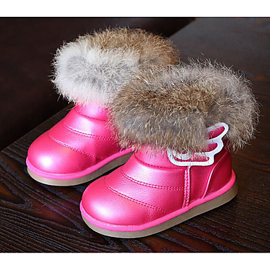 Girls' Shoes Leatherette Winter Comfort / Snow Boots Boots / for White / Fuchsia / Boots Pink 44bcac