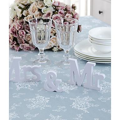3db / set esküvői dekoráció mr&mrs mariage dekoráció születésnapi party dekoráció fehér levelek esküvő jel