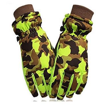 Rękawice narciarskie Rękawiczki zimowe Dla dzieci Skóra Full Finger Keep Warm Wiatroodporna Przepuszczalność wilgoci Oddychający