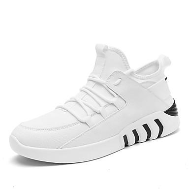 Męskie Buty Derma Tiul Wiosna Lato Comfort Buty do lekkiej atletyki Bieganie na Atletyczny Casual White Black Black/White