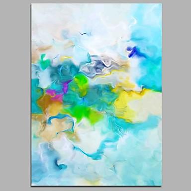 Hang-Malowane obraz olejny Ręcznie malowane - Streszczenie Nowoczesny Brezentowy / Rozciągnięte płótno