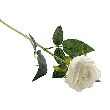 2 Gałąź Poliester Roses Bukiety na stół Sztuczne Kwiaty