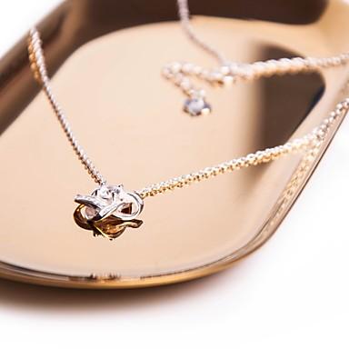 povoljno Modne ogrlice-Žene Kubični Zirconia Sticky dijamanata Ogrlice s privjeskom Kereszt Csillag dame slatko Elegantno Zircon Srebrna Pink Ogrlice Jewelry 1 Za Kauzalni Rad