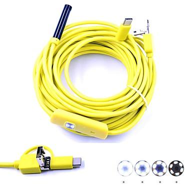 3 w 1 7mm endoskop USB inspekcja długości 10m kamera borescop wodoodporna ip67 wąż krzywka 6 led na androida