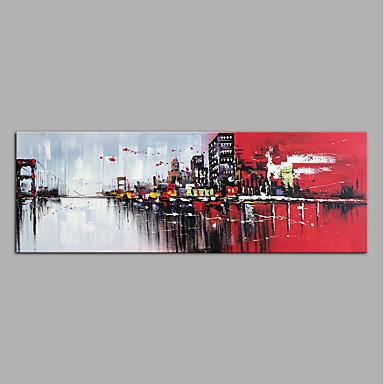 Ręcznie malowane Streszczenie Poziomy, Nowoczesny Brezentowy Hang-Malowane obraz olejny Dekoracja domowa Jeden panel