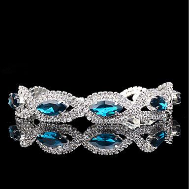 Damskie Syntetyczny szafir Bransoletki i łańcuszki na rękę - Srebrny Vintage, Elegancja Bransoletki Niebieski Na Ślub Party Wieczór