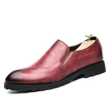 Męskie Komfortowe buty Derma / Skóra bydlęca Jesień Adidasy Czarny / Czerwony